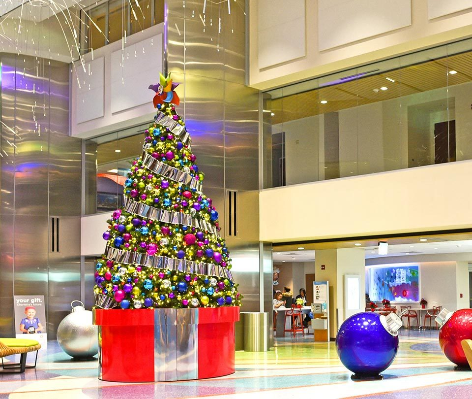 Colorful Giant Christmas Tree for Hospital