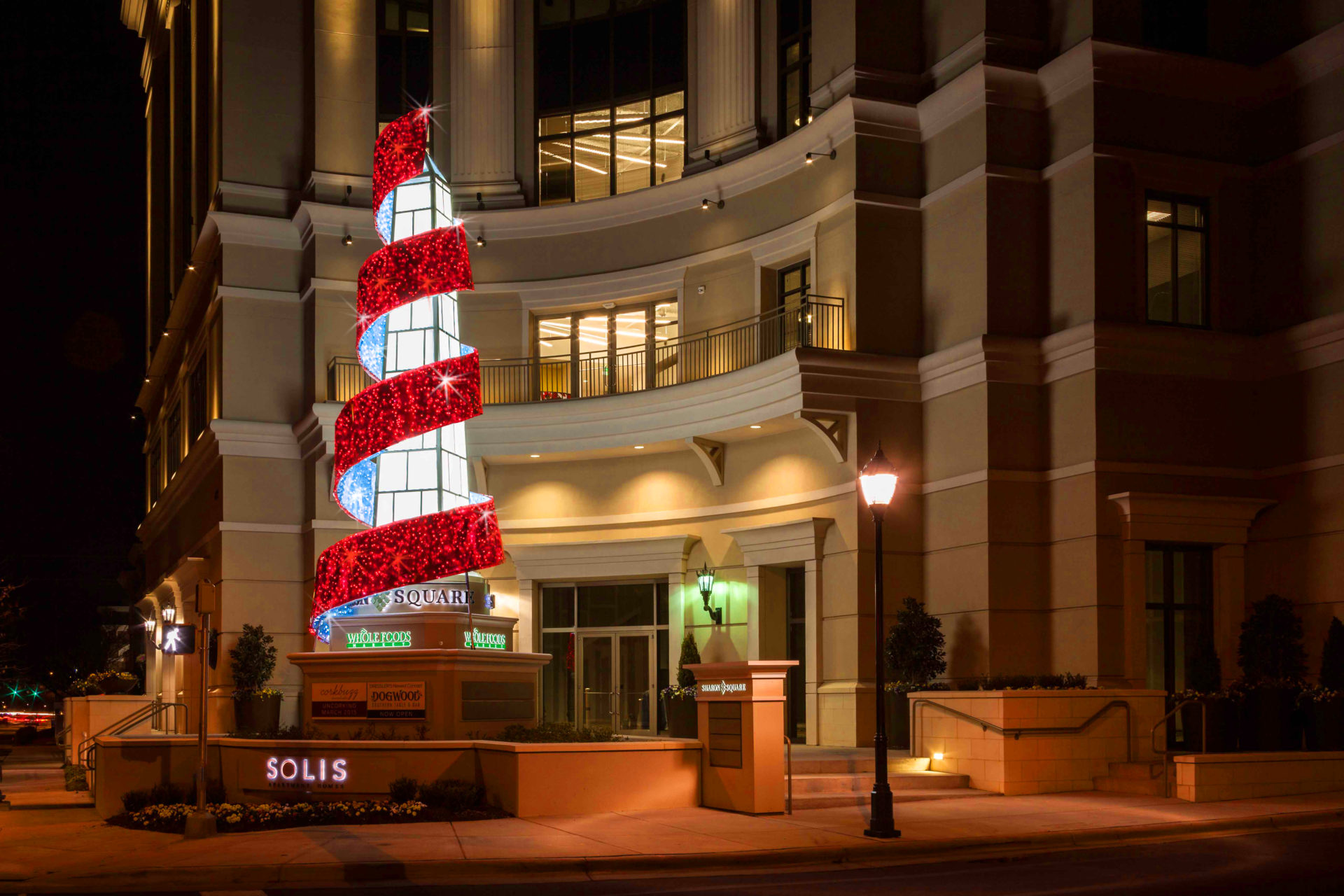 Custom Commercial Christmas Display for Mixed Use Property